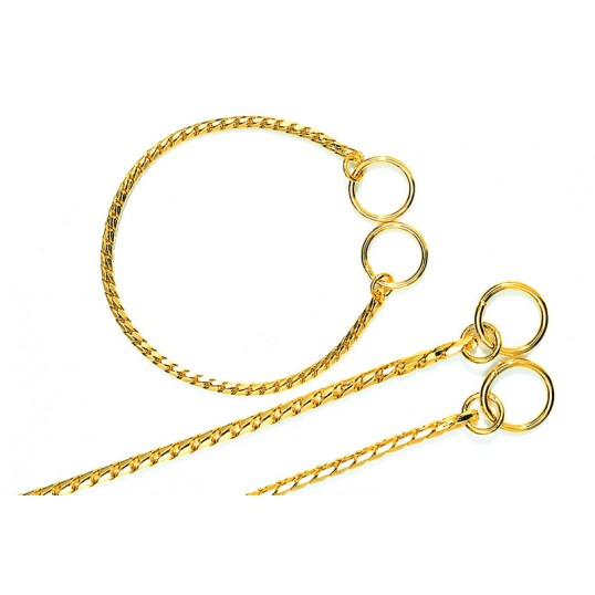 "Eksklusiv kvælerkæde ""Gold"" 18-carat guld-plating."