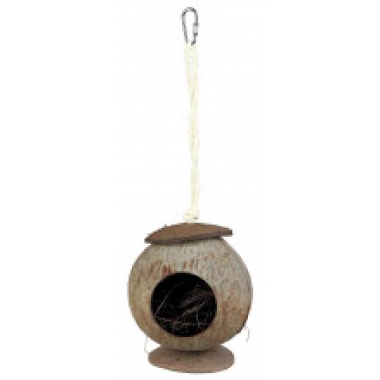 Kokosnød hus til f.eks. mus og hamster. Ø 13X22 cm