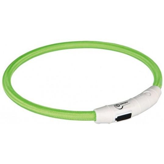 Flashlight lyshalsbånd til hund i plast/nylon - Genopladeligt via USB-kabel