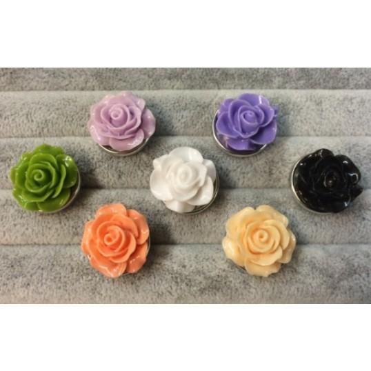 Snapknap med rose 1 stk
