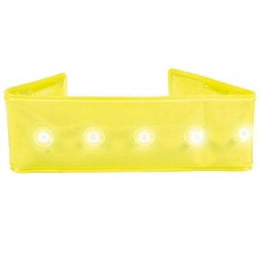 """""""Light Band"""" Med blinkende lysdioder. 25 cm. Ass. farver (gul, grøn eller rød)"""