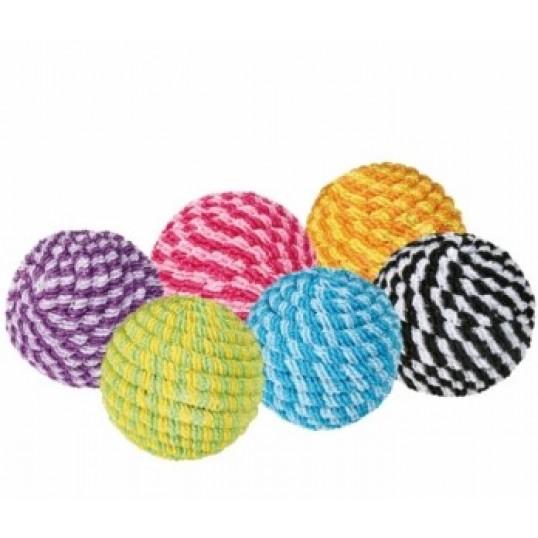 Spiralbolde med catnip. Ca. Ø 4,5 cm. Ass. farver. 2 stk.