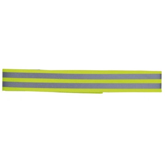 Reflekterende bånd i gul, blå eller orange med velcro. Ass. farver