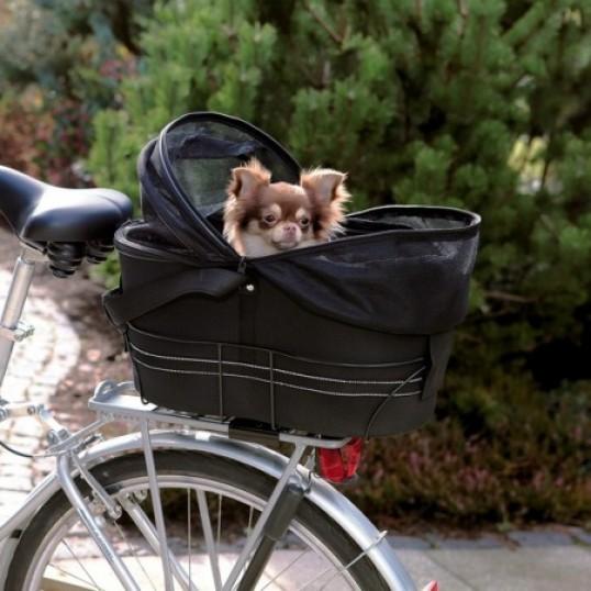 Cykelkurv/taske til bagagebæreren. Sort. 2 størrelser.