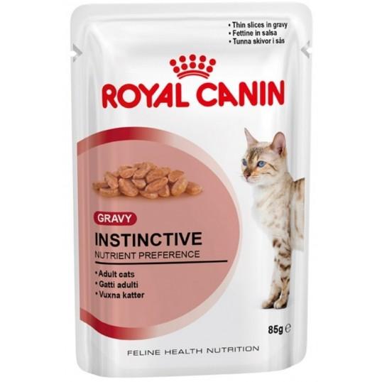 Royal Canin Instinctive, vådfoder. Til voksne katte over 1 år. 12 ps. á 85 g. Flere varianter.