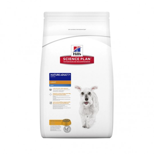 Hill's Science Plan™ Canine Mature Adult 7 plus Mini Light with Chicken 2,5 kg