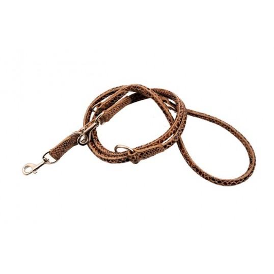 """2-Cool dressurline """"Fat Snake"""" Beige/Brun. 200 cm. Ø: 1,8 cm."""
