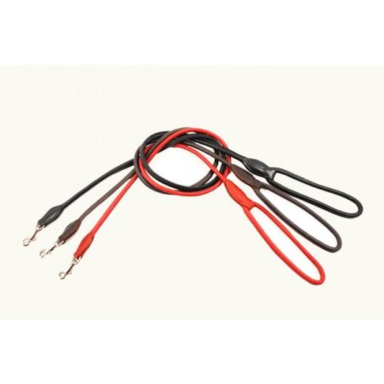 2-Cool Hundeline rundsyet i læder med håndtag og 1 karabinhage Længde 110 cm, ø 10 mm
