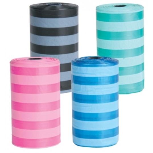 HømHømposer med striber. Blandede farver. 4 ruller á 20 stk. Str. M.