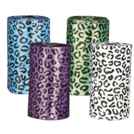 HømHømposer med dyreprint. Blandede farver. 4 ruller á 20 stk. Str. L.