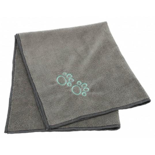 Håndklæde i mikrofiber, mål 50 x 60 cm. Grå.