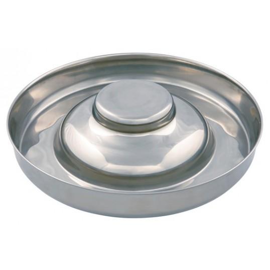 Foderbar til hvalpe i rustfrit stål. Ø 38 cm. / 4,0 L. Stor