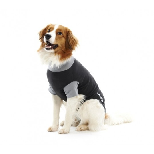"""Buster Body Suit til hunde / """"Recover overall"""". Sort/Grå"""