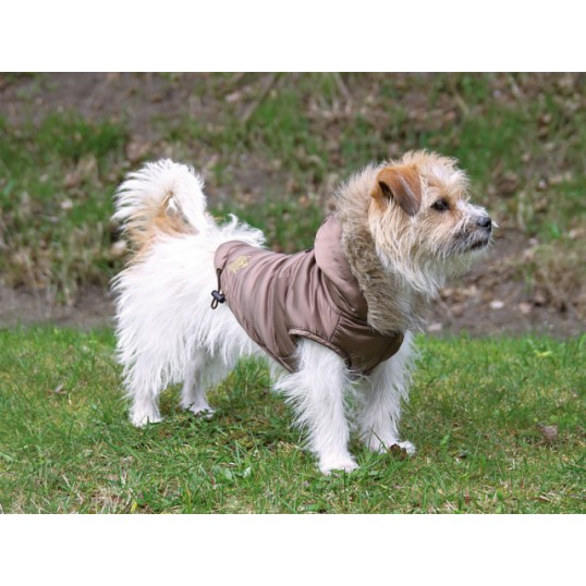 """Torino"" nougatfarvet hundefrakke 25 cm"