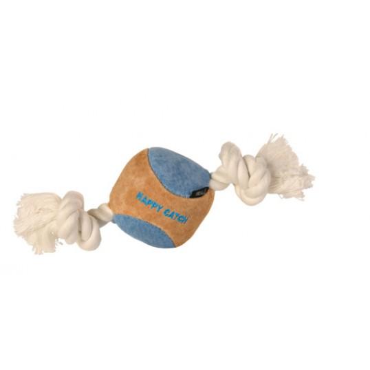 Hundelegetøj Ruskindsbold med reb
