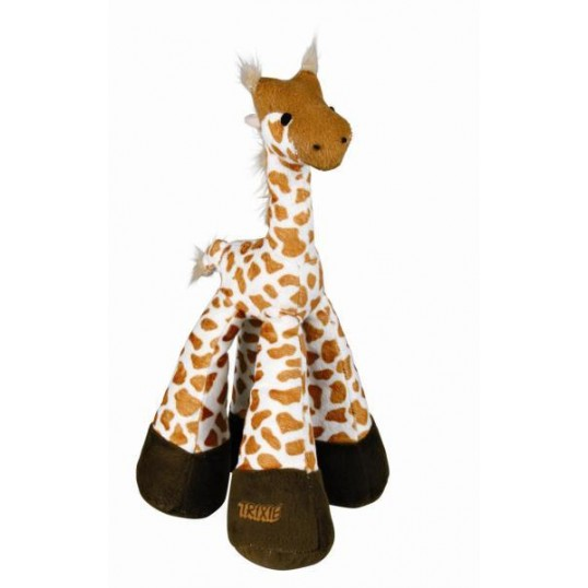 Hundelegetøj Giraf med lange ben og rangle.