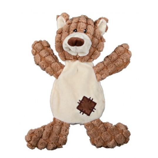 Plys bjørn uden fyld med lyd. 30 cm.