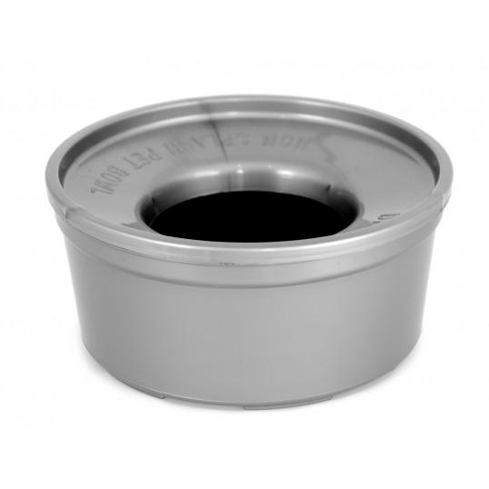 Plastskål der er skvulpefri, hundeskål 1,5L. Ass. farver