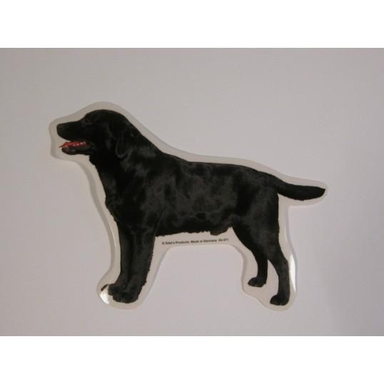 Labrador Retriever, sort, st. Vælg: klistermærke, nøglering, broche, slipsenål, mm.