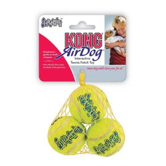 KONG Tennisbold Airkong / AirDog Squeaker med piv.