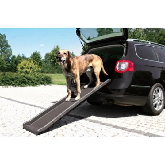 "Hundens rampe til bilen. ""Petwalk"" foldbar bilrampe i plast"