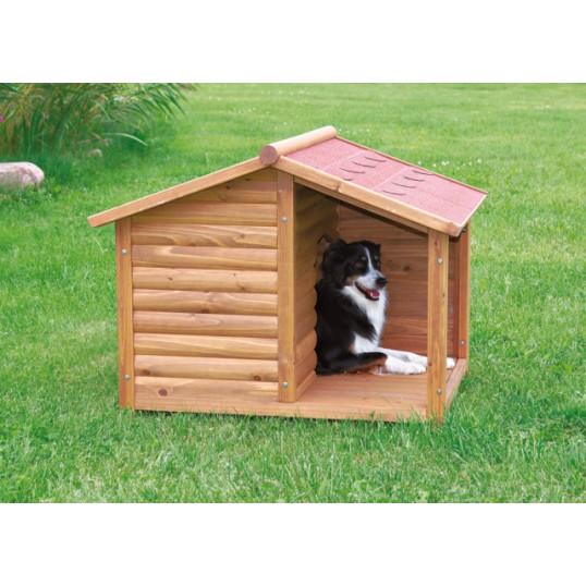 Hundehus med terrasse. str. M. LBH 100x82x90 cm