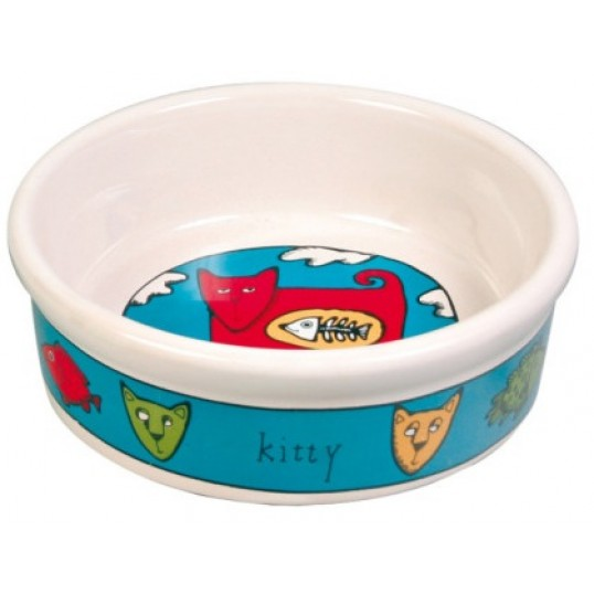"Keramik Katteskål. Motiv ""Kitty"". 0,2 l."