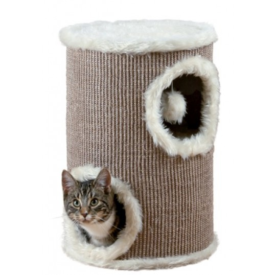 Cat Tårn. H. 50 cm. Brun/Creme.