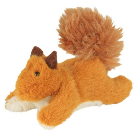 Plys-egern med catnip. Måler ca. 9 cm.