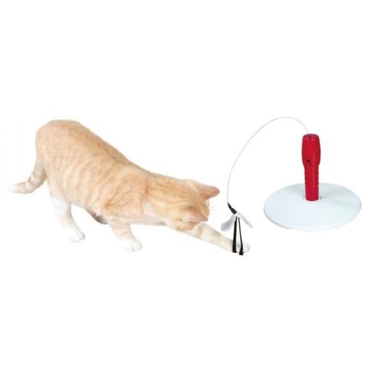 Cats Fishing kattelegetøj. Ø 22 cm x 18 cm. Grå/rød.
