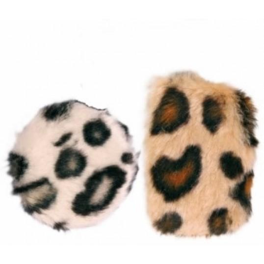 """""""Crunch"""" knitrepude med catnip. 2 stk. 1 af hver. Ca. Ø 5,5 cm. og 7,5 cm."""