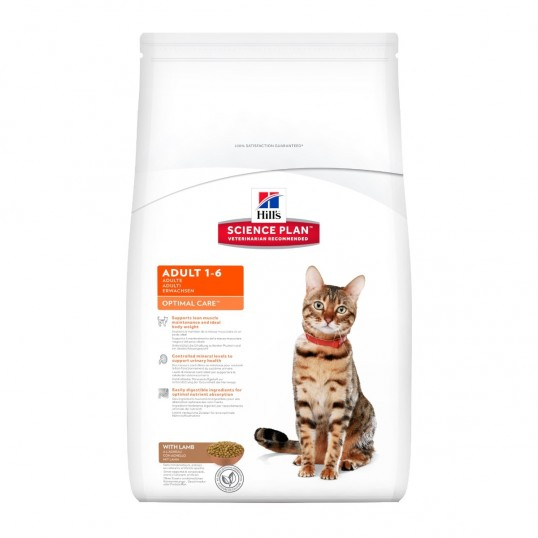 Hill's Science Plan™ Feline Adult Optimal Care™ with Lamb 2 kg Dry