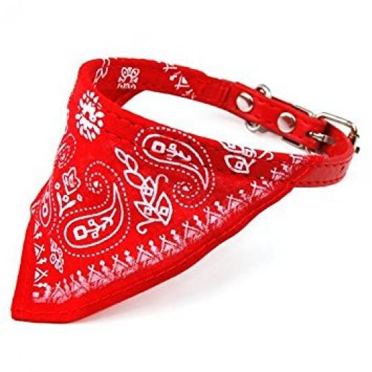 Rødt halsbånd med Bandana