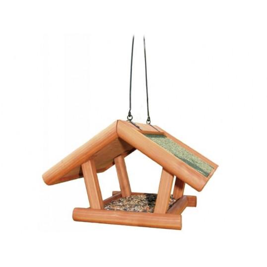 Fuglefoderhus i behandlet fyrretræ til ophæng