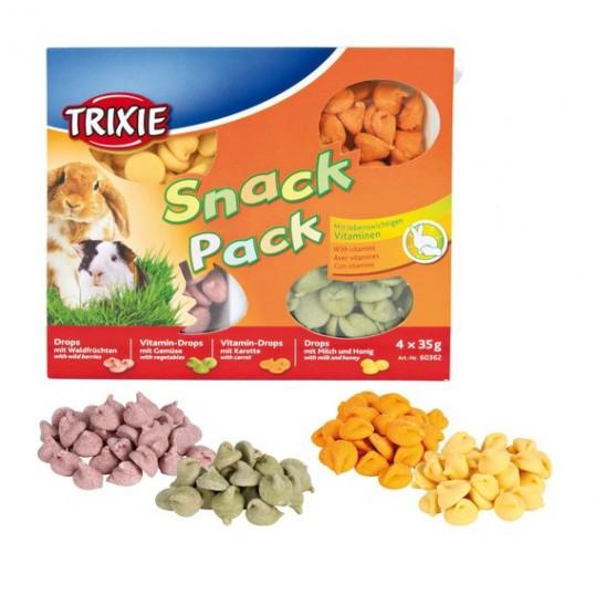 Snack Pack til bl.a. kaniner og marsvin. 4 x 35 gr,