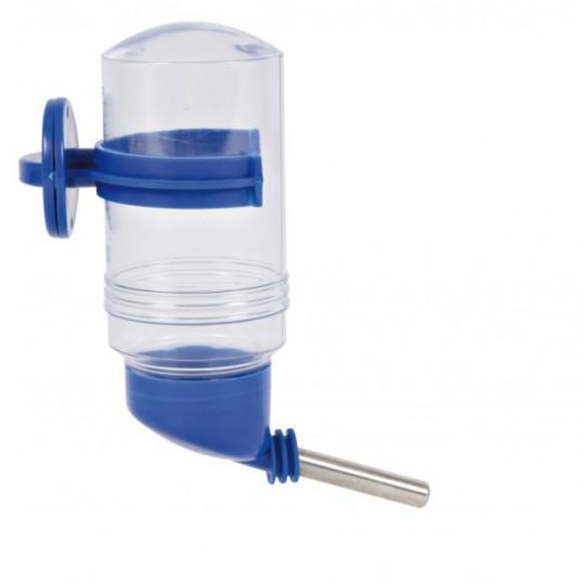 Drikkeflaske i plast med kugleventil og plastskrue. Ass. farver
