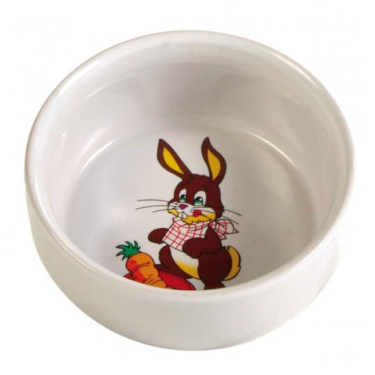 Keramik skål m. motiv. Kanin. 300ml / ø 11cm. Sendes med fragtmand.
