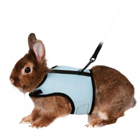 Sele til kaniner. Halsmål 14-19cm. Maveomfang 25-32. Ass. farver.