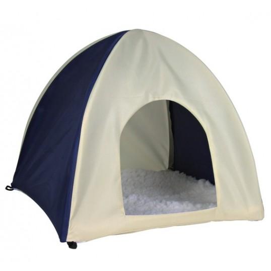 WigWam hule/telt til marsvin og kaniner. Mørkeblå/Beige.
