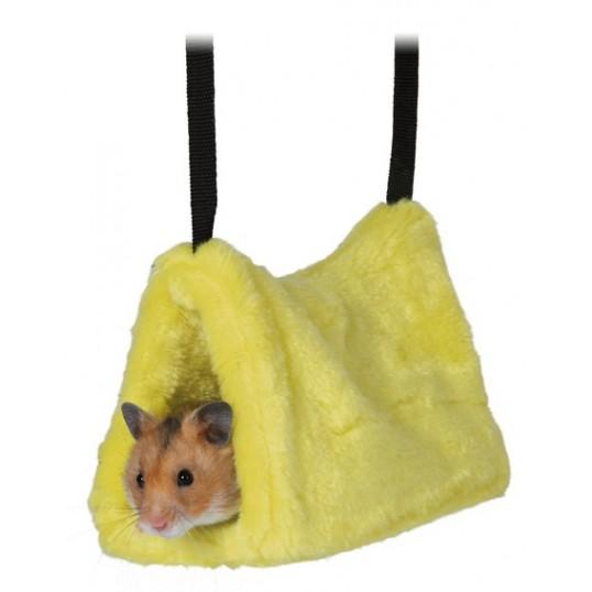 """Plys """"hængekøje"""" til mus og hamstre. Ass. farver"""