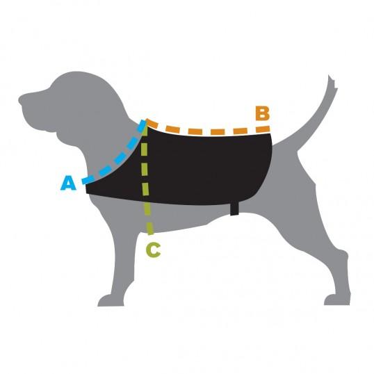 KennelRefleksvesttilhundenGulellerorange-02