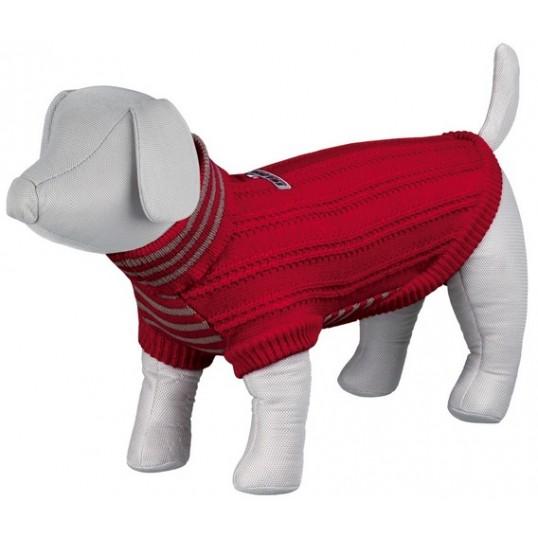 """""""Piave"""" Pullover i Rød strik."""