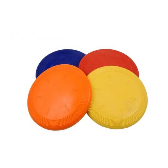 Frisbee af naturgummi.