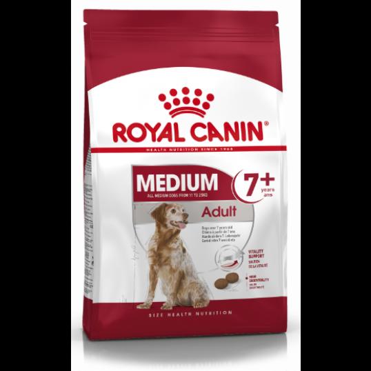 Royal Canin Medium Adult 7+. Hunde over 7 år. 11-25kg. Hund. (15kg)