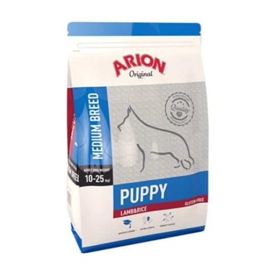 Arion Original Puppy Medium breed, Lam & Ris. 12 kg.
