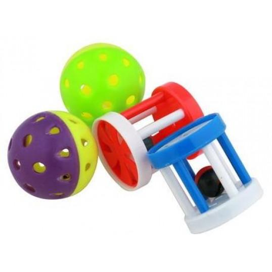 Kattelegetøj bold / rangle. Indeholder 4 stk.