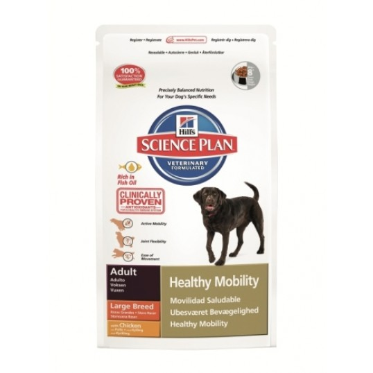 Hill's Science Plan Adult Healthy Mobility Large Breed with Chicken. Til store hunde over 25 kg. 1-6 år.