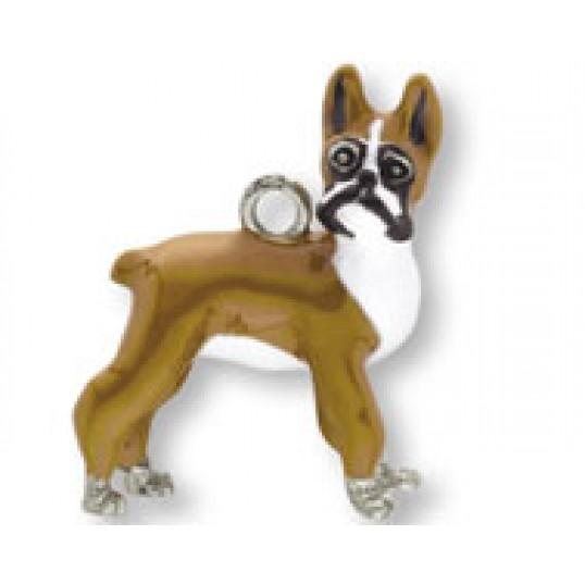 Eksklusiv nøglering med Boxer. Måler ca. 10,5cm inkl. kæde med charms og selve nøgleringen.