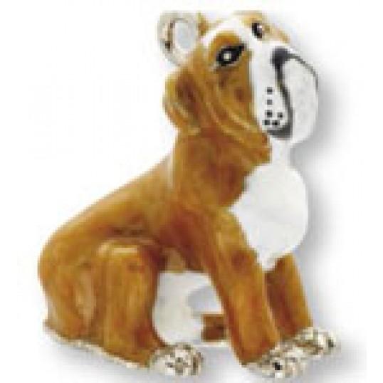 Eksklusiv nøglering med Engelsk bulldog.
