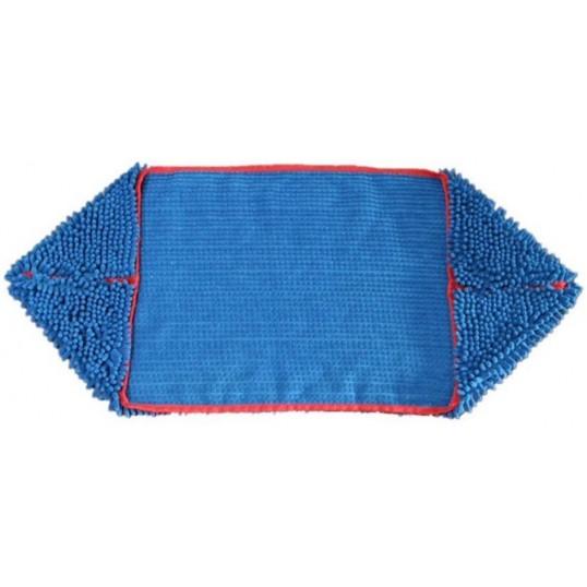 """Chenille"" superabsorberende håndklæde med lommer. Blå."